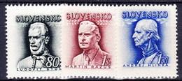 Slovaquie 1943 Mi 111+132-3 (Yv 86+98-9), MNH)** - Nuovi
