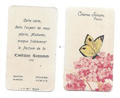 Carte Parfumée - Crème SIMON - Savon Poudre - - Perfume Cards
