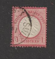 ALLEMAGNE . EMPIRE -- 4 Ou 16 De 1872  - Oblitéré  -  1.g . Rose-carminé  - 2 Scannes - Gebruikt