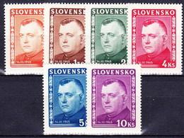 Slovaquie 1945 Mi 156-61 (Yv 122-7), MNH)** - Nuovi
