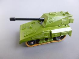 Chars  ( Tank ) Métal - Matchbox Rolamatics N° 70 - SP Gun - Made In England 1976 - Avec Chenilles Mobiles - Chars