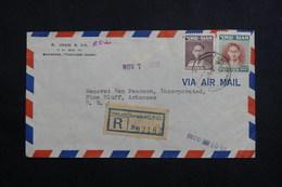 SIAM - Enveloppe En Recommandé De Bangkok Pour Les USA En 1952, Affranchissement Plaisant - L 61105 - Siam