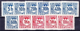 Slovaquie 1940 Mi P 13-23 (Yv TT 15-25), MNH)** - Nuovi