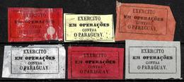 630 - BRASIL - 1865 - PARAGUAY WAR - FORGERIES, FALSES, FALSCHEN, FAKES, FALSOS - Timbres