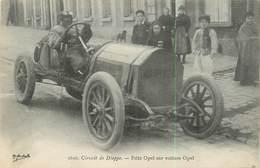 76 CIRCUIT DE DIEPPE - FRITZ OPEL SUR VOITURE OPEL N° 312640 - Dieppe