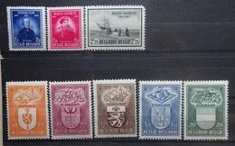 BELGIE 1947    Nr. 748 / 749 - 750 / 756 - 760    Postfris **    CW 37,50 - Belgium