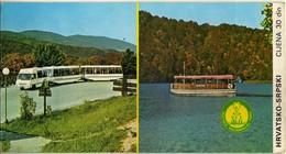 Tickets - Vouchers :  Plitvice Lakes National Park,Croatia,Yugoslavia - Tickets - Entradas