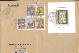 Luxembourg  -  Lettre Recommandé  5.12.1974  Série Caritas  Fissure Au Milieu - Luxembourg