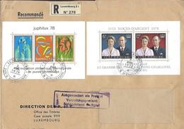 Luxembourg  -  Lettre Recommandé  3.4.1978  Fissure Au Milieu - Luxembourg