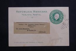 MEXIQUE - Entier Postal Type Miguel Hidalgo ( Repiquage Au Verso ) De Mexico Pour Ciudad - L 61123 - Mexiko