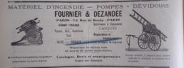 1912 SAPEURS POMPIERS - FOURNIER & DEZANDÉE - COURS D'INSTRUCTION - PLOMBIÈRES DIJON - BORDEAUX - MOULINS - Books, Magazines, Comics