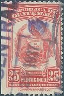 Guatemala , Revenue Stamp 25c Cancelled In 1937 - Guatemala