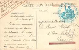 PHILATELIE / MARCOPHILIE / OBLITERATION HOPITAL 159E SAUJON MEDECIN CHEF  / GUERRE 1914/1918 / CPA FRANCE 17 DERCIE - Guerre Mondiale (Première)