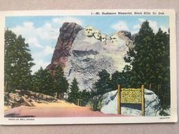 USA Mount Rushmore Memorial, Black Hills SD - CT 6B-H1719 - 1957 - Mount Rushmore