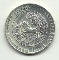 1999 - Italia 1 Lira - Storia Della Lira - Senza Confezione - Commemorative