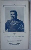 MENU ABL Manifestation De Sympathie Commandant HENRY Pre 1914 Belgische Leger Officier Armée Belge - Menus