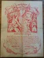 Affiche (guerre 14-18)   1917 PRETER A SON PAYS C'EST. ..( Signé  Prouvé) (CAT1877) - Cheques & Traveler's Cheques