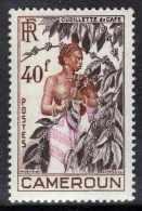Cameroun N° 299 XX Série Courante : 40 F. Brun Foncé, Brun-rouge Et Rose, Sans Charnière, TB - Cameroun (1915-1959)