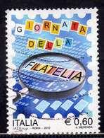 ITALIA REPUBBLICA ITALY REPUBLIC 2010 GIORNATA DELLA FILATELIA STAMP DAY € 0,60 USATO USED OBLITERE' - 6. 1946-.. Repubblica