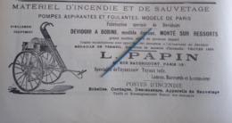 1912 SAPEURS POMPIERS - L. PAPIN  - COURS D'INSTRUCTION  - BORDEAUX - INCENDIES DE FORÊTS - BELFORT - TIR - AVIATION - Books, Magazines, Comics