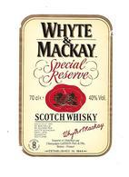 Etiquette - Whisky - Whyte & Mackay - Scotland - Whisky