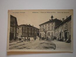 88 Chatenois, Place De L'hotel De Ville, école De Garçons (9083) - Chatenois