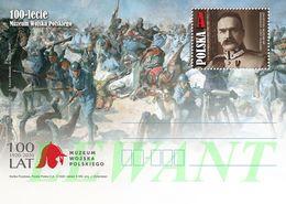 POLAND Postcard 2020.05.30. Cp 1889 100th Anniversary Of The Polish Army Museum - (battle, Horses) Jozef Pilsudski - Postwaardestukken