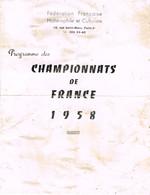 POIDS ET HALTERES - PROGRAMME DES CHAMPIONNATS DE FRANCE - 1958 - - Sports
