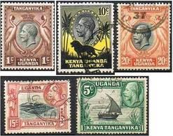 COLONIE ANGLAISE-KENYA OUGANDA TANGANYIKA  33-37 - Kenya, Uganda & Tanganyika