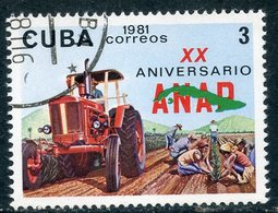 Y85 CUBA 1981 2559 20th Anniversary Of The National Association Of Small Farmers. Agriculture. Tractors - Agricultura