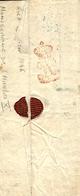 1829- Lettre De Paris Pour Lions La Forêt Avec Monogramme De Charles X  Au Dos - Poststempel (Briefe)