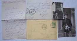 Brievenx40 + Fotox3 + 1 Diplôme Officier AALST Ecole Des Pupilles ABL 1909-1910 Sergent/lieutenant Jean OFFERGELD - Old Paper