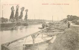 ERAGNY - L'Oise Pendant Le Chômage,péniches. - Houseboats