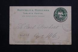 MEXIQUE - Entier Postal Avec Repiquage ( En Allemand ) Au Dos De Mexico En 1904 - L 61137 - Mexiko