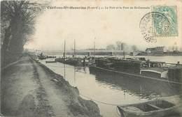 CONFLANS SAINTE HONORINE - Le Port Et Le Pont De Saint Germain, Péniches. - Houseboats