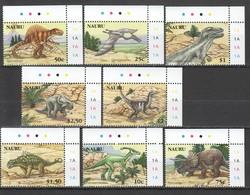 J1100 2006 NAURU FAUNA PREHISTORIC ANIMALS DINOSAURS #638-45 1SET !!! MICHEL 15 EURO !!! MNH - Stamps