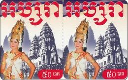 Indonesien Twin Phonecard  Nice Lady Of Bali - Indonesië