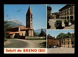 C3606 SALUTI DA BRENO (BRESCIA - EX PARROCCHIA SAN MAURIZIO, VIA MAZZINI, SCORCIO PANORAMICO VG 1985 ED. FANTONI RIVETTA - Italia