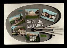 C3609 SALUTI DA BALLABIO (LECCO) ACQUARELLATA VG - FOTO EDIZ. F.D - Italia