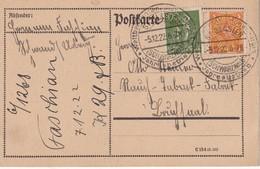 ALLEMAGNE 1922 CARTE DE ST-BLASIEN - Deutschland