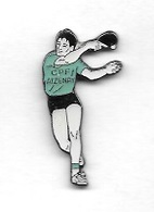 Pin's  Ville, Sport  Ténnis  De  Table  C.P.F  AISERAY  ( 21 ) - Table Tennis