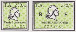 T.F Amendes N°16 A+B Neuf - Steuermarken
