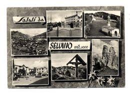 C3612 SALUTI DA SELVINO MULTIVEDUTE B\N VG 1957 - FOTOED. CARMINATI ZOGNO (BERGAMO) - Italia