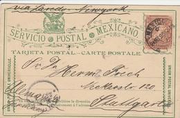 Mexique Entier Postal Pour L'Allemagne 1896 - Mexiko