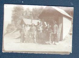 74, Petite Photo Format 6,2 X 4,2 Cm, Internés Au Poste De Chatel, Militaires, Thème Militaria - Guerre, Militaire