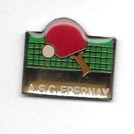 Pin's  Ville, Sport  Ténnis  De  Table  A.S.C. ÉPERNAY  ( 51 ) - Tennis De Table