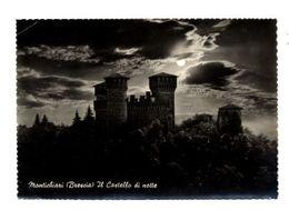 C3614 MONTECHIARI (BRESCIA) - IL CASTELLO DI NOTTE B\N VG 1966 - ED. M. ROSSI BRESCIA - Italia