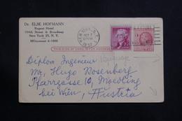 ETATS UNIS - Entier Postal Commercial ( Repiquage Au Dos ) + Complément De New York Pour L 'Autriche En 1957 - L 61150 - 1941-60