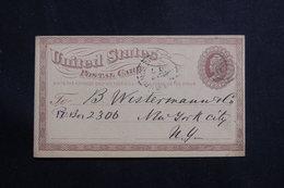 ETATS UNIS - Entier Postal Pour New York En 1875 - L 61151 - ...-1900