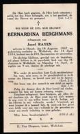Herselt, Wolfsdonk, 1934, Bernardina Berghmans, Rayen - Imágenes Religiosas